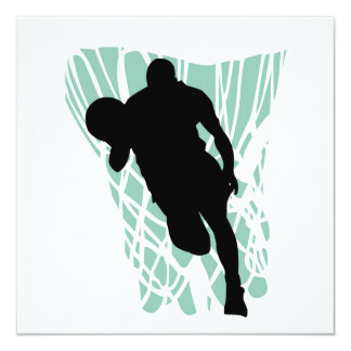 To the Net Basketball Tshirts and Gifts 13 Cm X 13 Cm Square Invitation Card