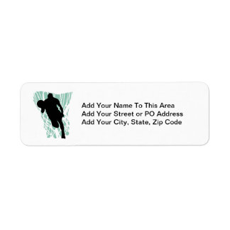 To the Net Basketball Tshirts and Gifts Return Address Label