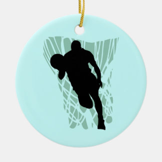 To the Net Basketball Tshirts and Gifts Round Ceramic Decoration