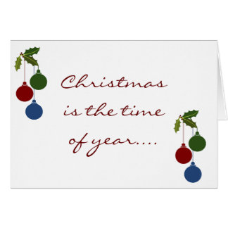 """TO THE ONE """"I LOVE"""" AT CHRISTMAS CHRISTMAS CHEER GREETING CARD"""