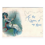 """""""To the Queen of my heart"""" Valentine's postcard"""