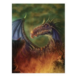 to the rescue! fantasy art postcard