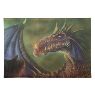 to the rescue! fantasy dragon placemat