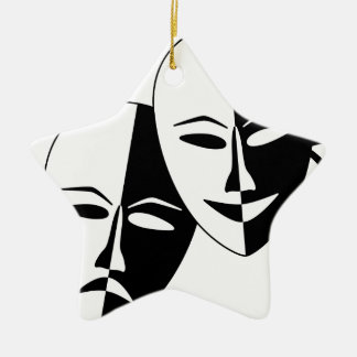 To the Theatre! Christmas Ornament