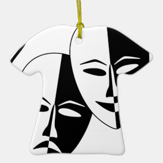 To the Theatre! Double-Sided T-Shirt Ceramic Christmas Ornament