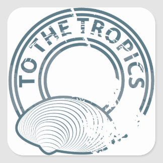 To the Tropics rubber stamp Stickers