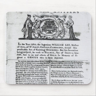 To the Worshipful Company of Frame-Work-Knitters Mouse Mat