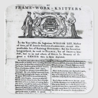 To the Worshipful Company of Frame-Work-Knitters Square Sticker