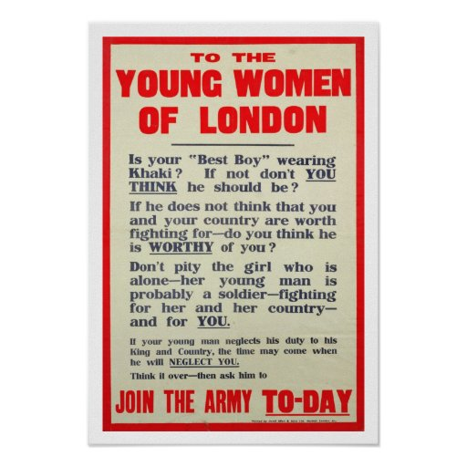 To the Young Women of London, recruitment poster,