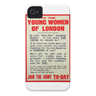 To the Young Women of London, recruitment poster, iPhone 4 Cases