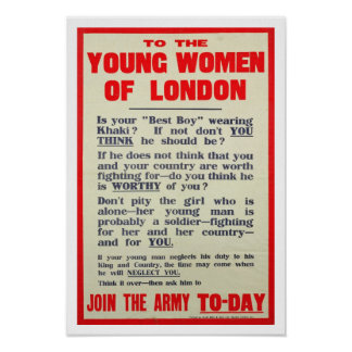 To the Young Women of London, recruitment poster, Poster