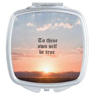 To Thine Own Self Be True Vanity Mirror