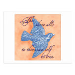 To thine own self be true… Postcard