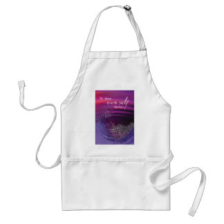 To Thine Own Self Be True Swirl Standard Apron