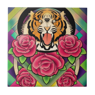 to tiger small square tile