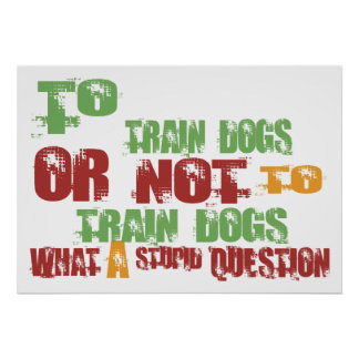 To Train Dogs Posters
