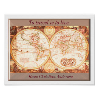 To travel is to live - Art Print