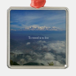 To travel is to live TRAVEL QUOTE Christmas Ornament
