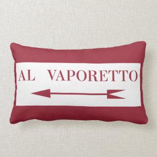 To Vaporetto, Street Sign, Venice, Italy Lumbar Cushion