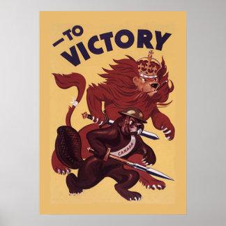 To VictoryCanada War Propaganda Campaign 1942 Poster