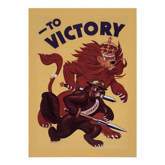 To VictoryCanada ~ War Propaganda Campaign. 1942 Poster