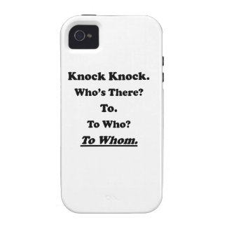 To Whom Knock Knock Joke Case-Mate iPhone 4 Cases