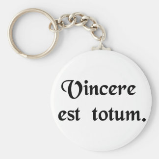 To win is everything. basic round button key ring
