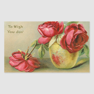 To Wish You Joy vintage Floral Stickers