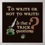 To Write or Not to Write Print