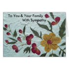 To You & Your Family with sympathy card