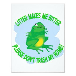 toad 11 cm x 14 cm invitation card