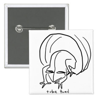 toad 15 cm square badge