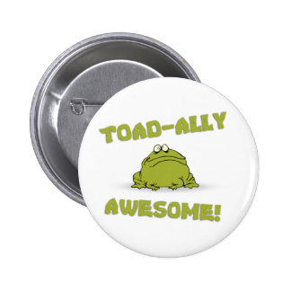 Toad-ally Awesome 6 Cm Round Badge
