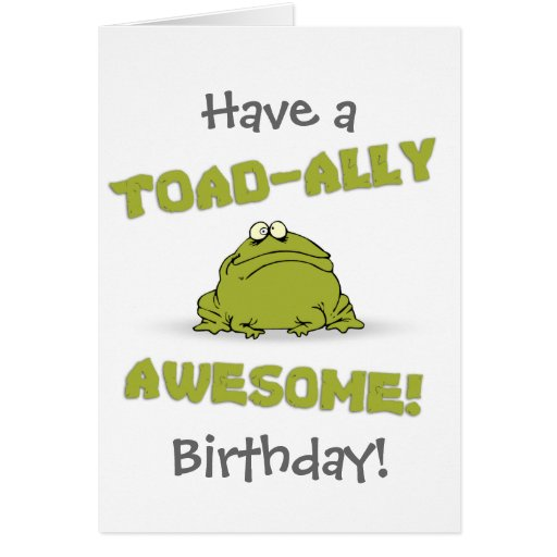 Toad-ally Awesome Cards