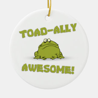 Toad-ally Awesome Round Ceramic Decoration