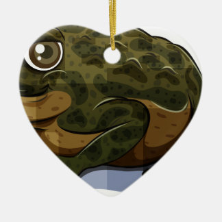 Toad Double-Sided Heart Ceramic Christmas Ornament