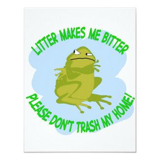"toad 4.25"" x 5.5"" invitation card"