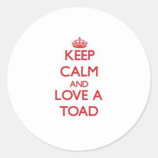 Toad Round Sticker