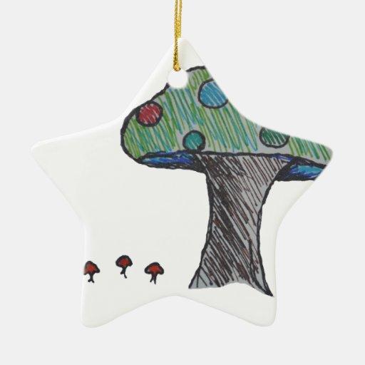 Toad Stool, Mushroom Christmas Tree Ornaments