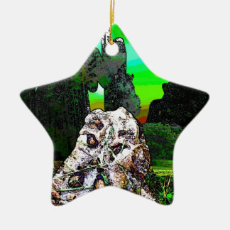 toad water color .jpg ceramic star decoration
