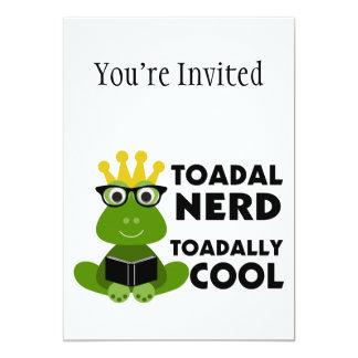 Toadal Nerd Toadally Cool 13 Cm X 18 Cm Invitation Card