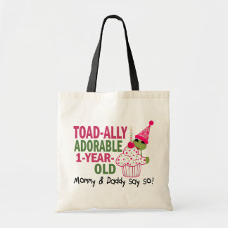 Toadally Adorable 1-Year Old Canvas Bags