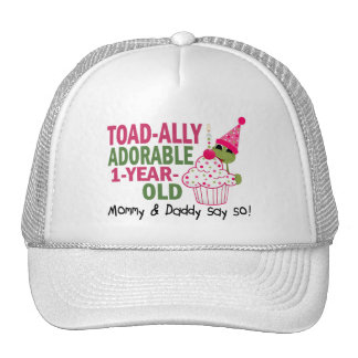 Toadally Adorable 1-Year Old Hat