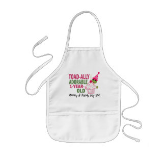 Toadally Adorable 1-Year Old Kids Apron