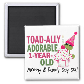 Toadally Adorable 1-Year Old Magnets
