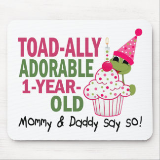 Toadally Adorable 1-Year Old Mousepad
