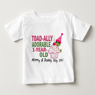 Toadally Adorable 1-Year Old Tee Shirts
