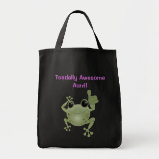 Toadally Awesome Aunt! Grocery Tote Bag