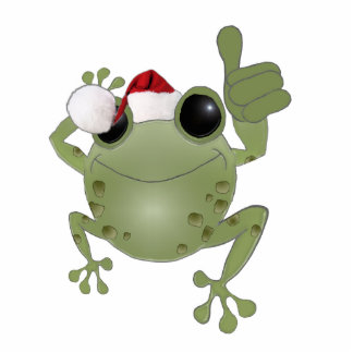 toadally awesome Christmas tree ornament. Standing Photo Sculpture