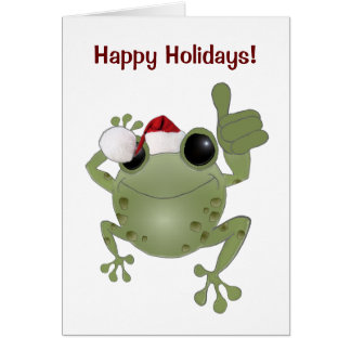 Toadally Awesome Happy Holidays! Card